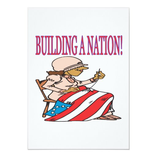 Building A Nation 5x7 Paper Invitation Card