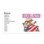 Building A Nation Business Card Templates