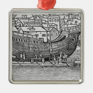 Building a Ship Metal Ornament