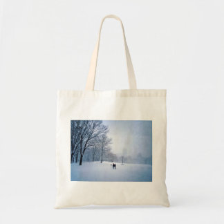 Building A Snowman In Central Park Tote Bag