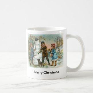 building a snowman mug