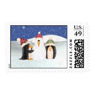 Building a Snowman Stamp