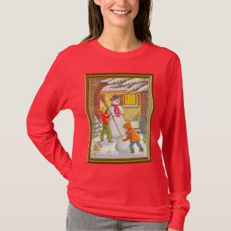 Building a snowman T-Shirt