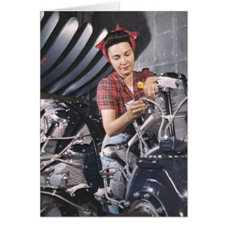 Building Airplane Engines 1942 Greeting Cards