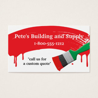 Building and Painting Supply Business Card