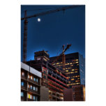 Building at Night Poster