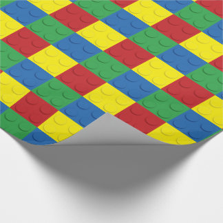 Building Block 4 Colors Wrapping Paper