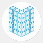 Building block classic round sticker