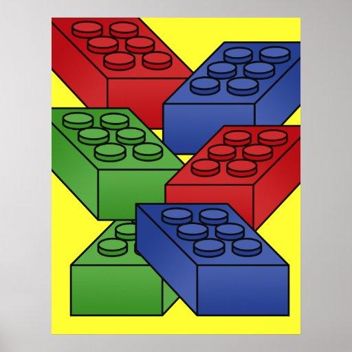 Building Blocks Of Art : Building blocks art deco poster zazzle