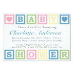 Building Blocks Baby Shower Invitiations (Blue) Card