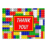Building Blocks Boys Birthday Party Thank You Note Card