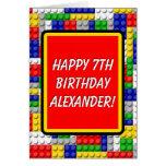 Building Blocks Bricks Smart Boy's Birthday Card