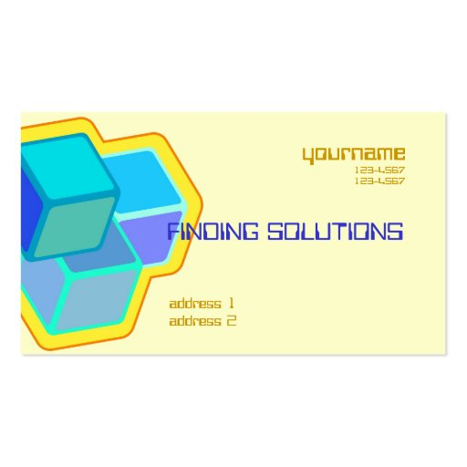 building blocks business card