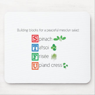 Building blocks for a peaceful mesclun salad mouse pad