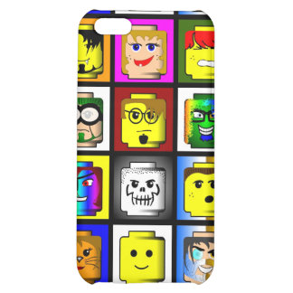 Building Blocks Heads iPhone 4 case