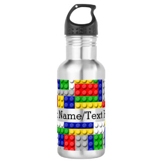 Building Blocks Primary Color Boy's Birthday/Party 18oz Water Bottle