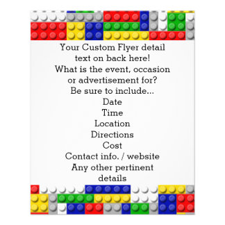"Building Blocks Primary Color Boy's Birthday/Party 4.5"" X 5.6"" Flyer"