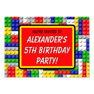 Building Blocks Primary Color Boy's Birthday/Party Card
