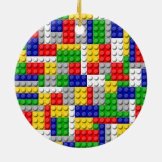 Building Blocks Primary Color Boy's Birthday/Party Ceramic Ornament