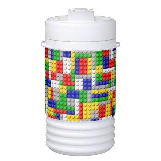 Building Blocks Primary Color Boy's Birthday/Party Cooler