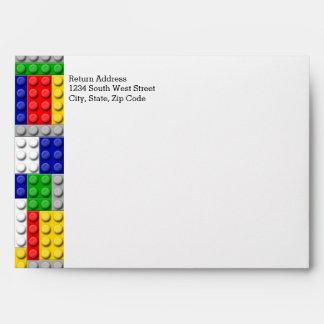 Building Blocks Primary Color Boy's Birthday/Party Envelope