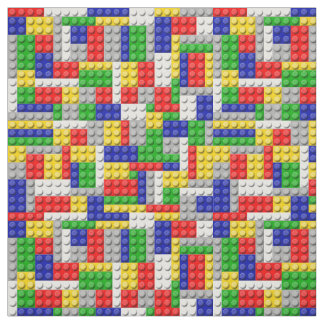 Building Blocks Primary Color Boy's Birthday/Party Fabric