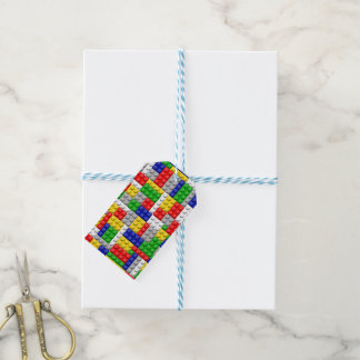 Building Blocks Primary Color Boy's Birthday/Party Gift Tags