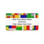 Building Blocks Primary Color Boy's Birthday/Party Label