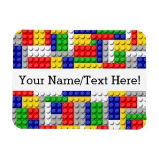 Building Blocks Primary Color Boy's Birthday/Party Magnet