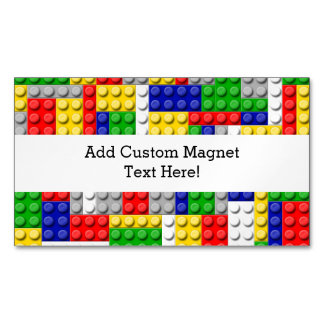 Building Blocks Primary Color Boy's Birthday/Party Magnetic Business Card