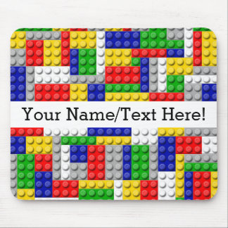 Building Blocks Primary Color Boy's Birthday/Party Mouse Pad