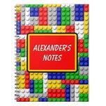 Building Blocks Primary Color Boy's Birthday/Party Notebook