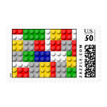 Building Blocks Primary Color Boy's Birthday/Party Postage