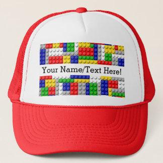 Building Blocks Primary Color Boy's Birthday/Party Trucker Hat