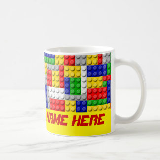 Building Blocks Primary Color Boy's Personalized Coffee Mug