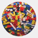 Building Blocks Round Stickers