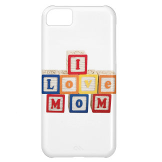 """building blocks stacked so they say, """"I love mom"""" iPhone 5C Cover"""