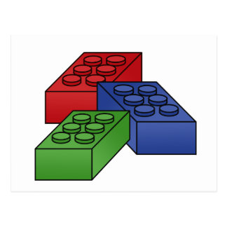Building Blocks - Vector Illustration Postcard