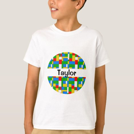 Building Bricks Pattern Personalized T-Shirt