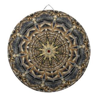Building Bridges Mandala kaleidoscope Dart Board