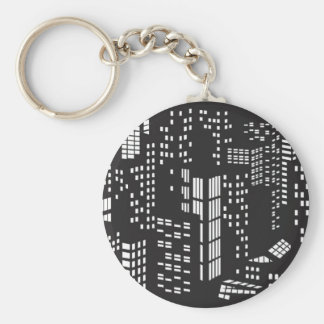Building, buildings, structure, architecture, city basic round button keychain