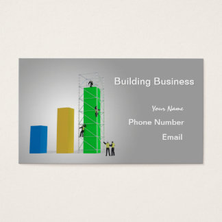 """""""Building Business"""" Business Card"""