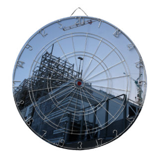 Building Construction Plant/Site Wall Clock Dartboard With Darts