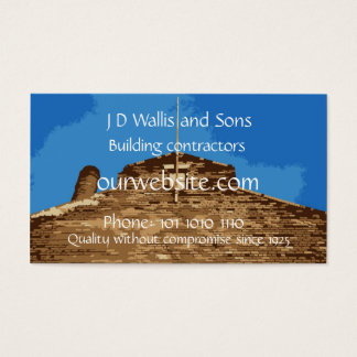 Building contractors or construction business card