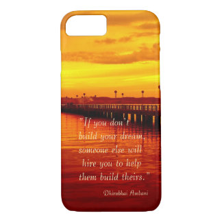 Building dream hope quote sunset background iPhone 8/7 case