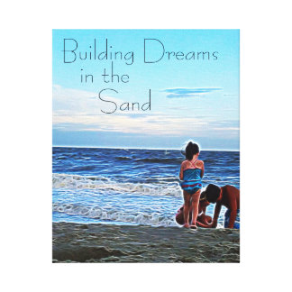 Building Dreams in the Sand - Personalized Canvas Print