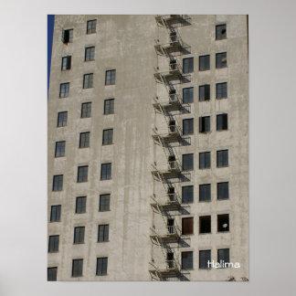 building facade, Halima Poster