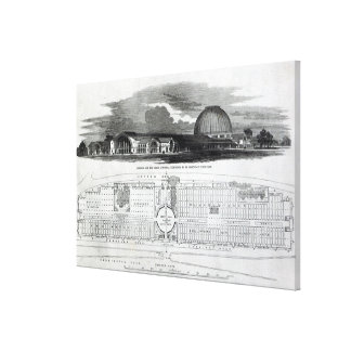 Building for the Great Industrial Exhibition Canvas Print