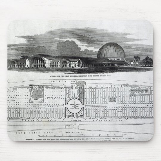 Building for the Great Industrial Exhibition Mouse Pad