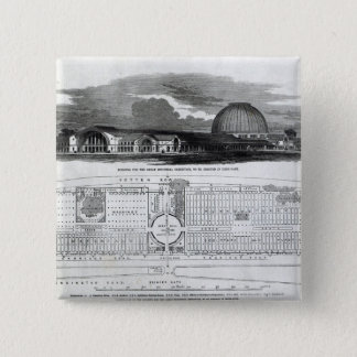 Building for the Great Industrial Exhibition Pinback Button